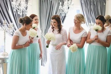 Bridesmaid. Bridesmaids Dresses. Lace dresses. Lace. Mint Bridesmaids Dresses. South African Wedding designer.